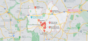 Which county in Maryland is Silver Spring